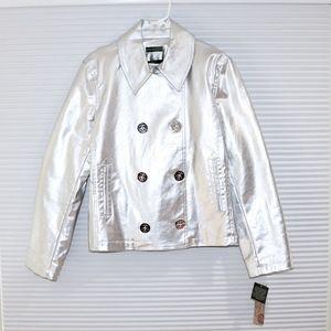 Lauren Jeans Co. silver jacket NWT